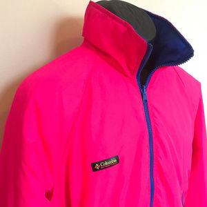 VTG 90s Neon Columbia Ski Snow Jacket Reversible